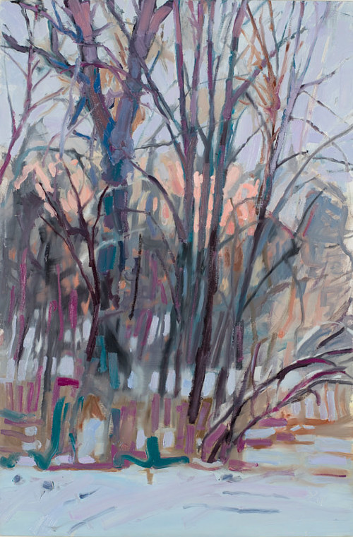 A painting of a thicket of trees