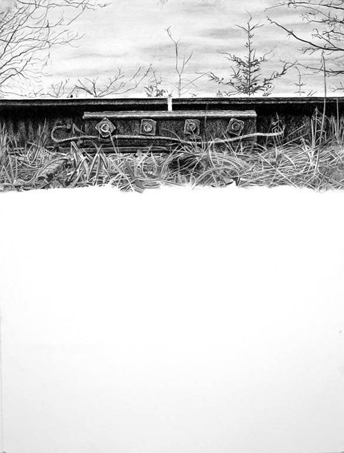 drawing of railway tracks