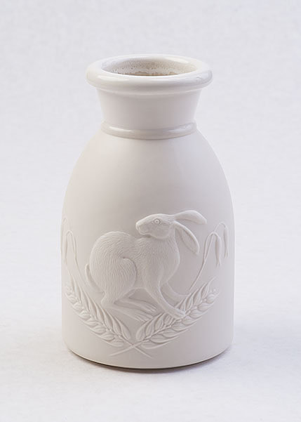 porcelain vessel with a hare on it