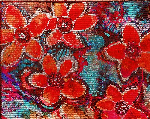 artwork of flower mosaic