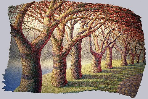 painting of a grove of trees