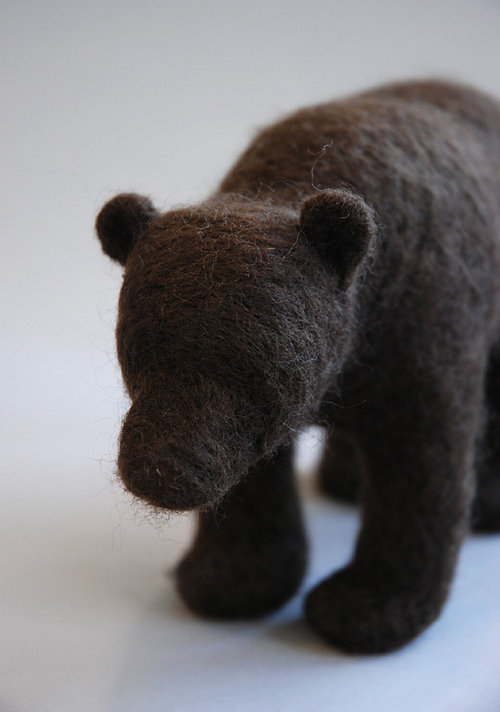 felt bear craft art