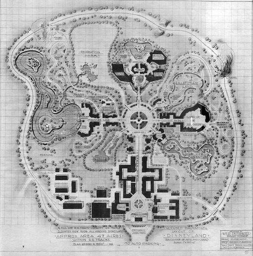 2d map drawing of Disney Land