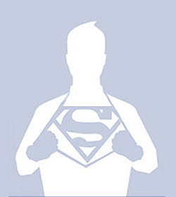 Outline of superman shirt