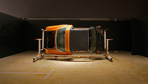 sculpture of a car