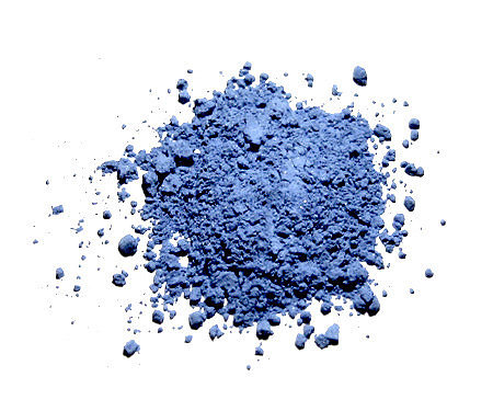 A pile of blue powdered pigment
