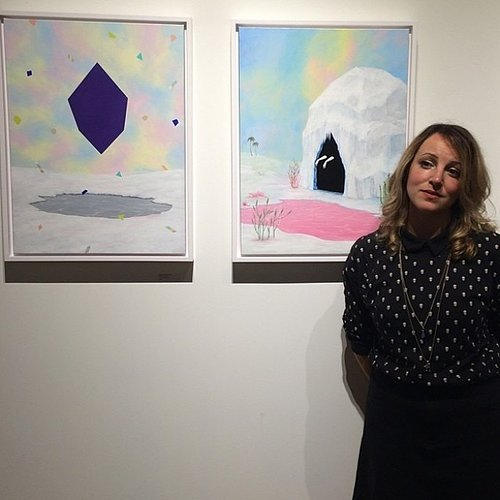 Rebecca Chaperon and her art at Gauntlet Gallery San Francisco