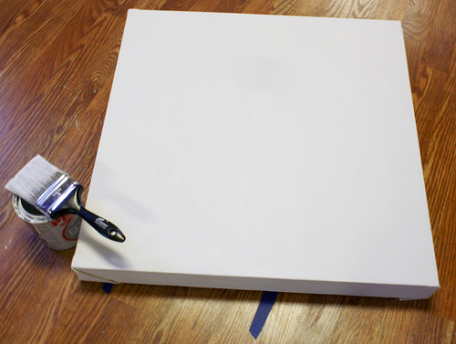 A prepared canvas