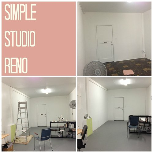 Before and after studio renovation