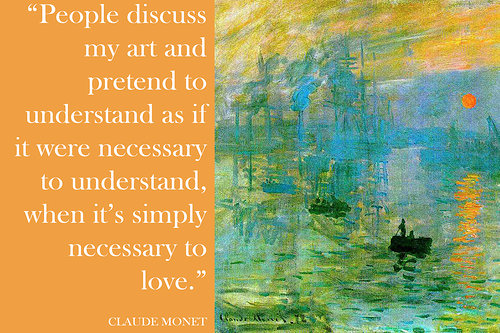 How to love art by Claude Monet
