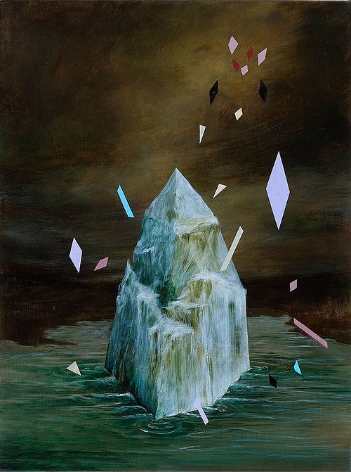 iceberg painting by Rebecca Chaperon