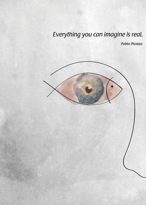 quote and illustration of eye