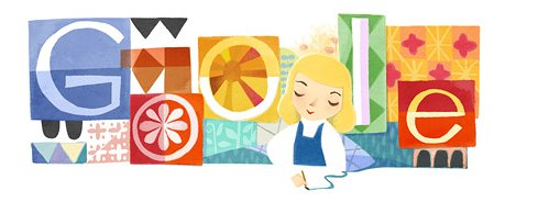 Google doodle celebrating the art of Mary Blair