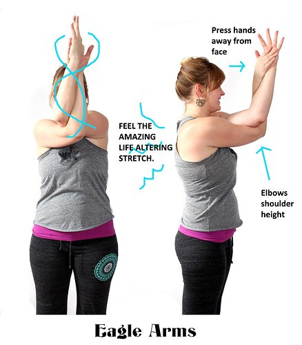Eagle arm stretch