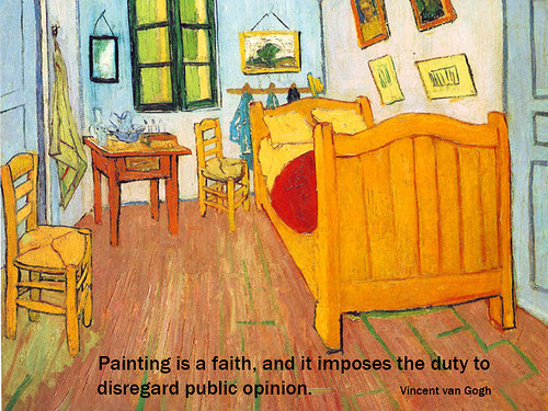 Vincent Van Gogh painting and quote