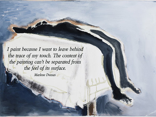 painting by Marlene Dumas with quote