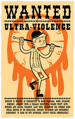 Poster design for Clockwork Orange