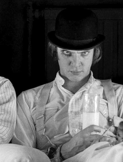 Malcolm McDowell in Clockwork Orange