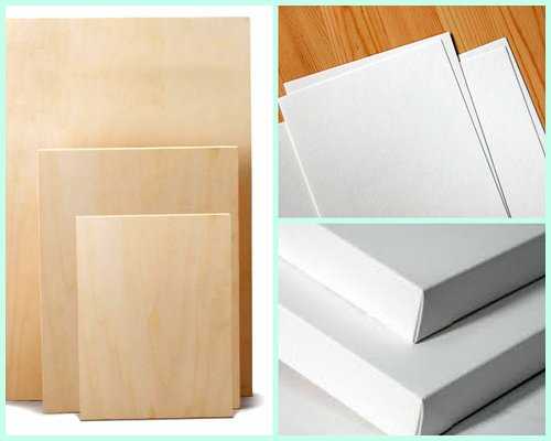 Canvas, panels and paper for artists