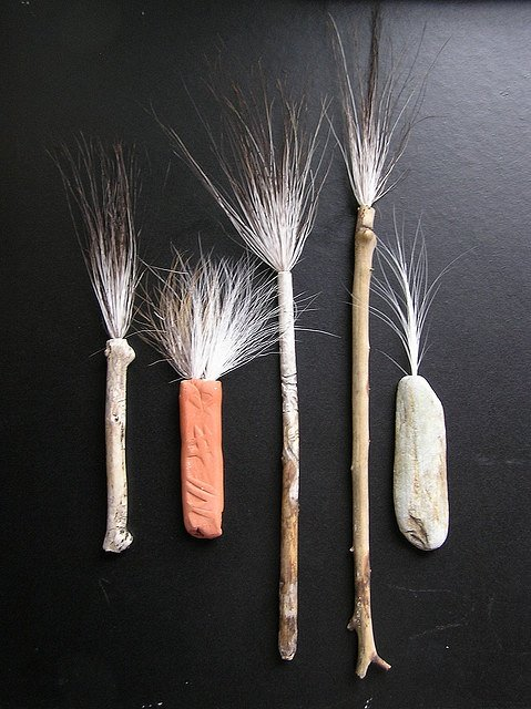 Odd and wispy looking paint brushes