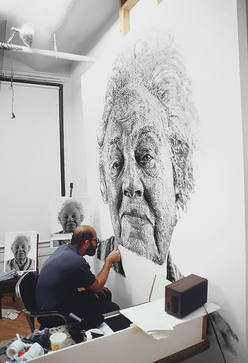 Chuck Close finger painting