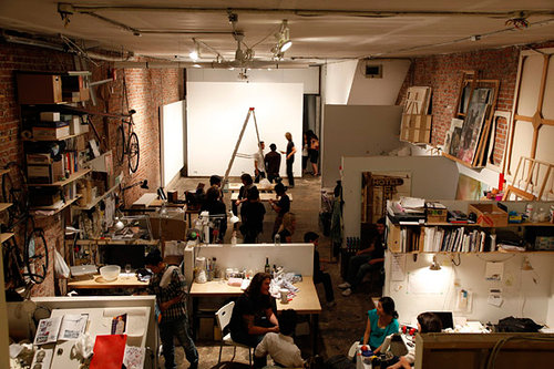 A photo of the interior of 221a, an artist run centre in Vancouver, BC