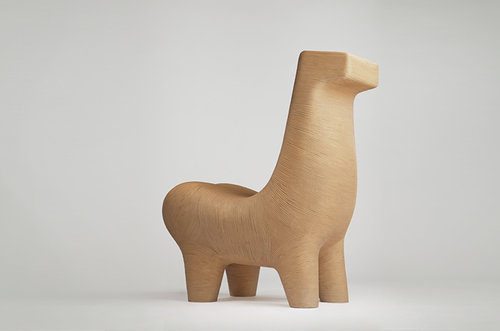 A chair designed to look something like a horse