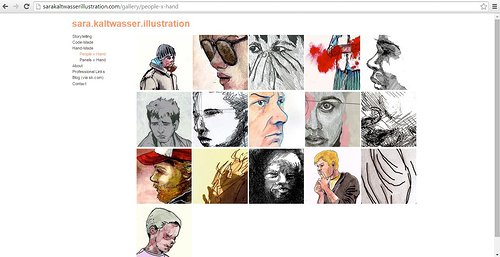 Traditional people and portraits by Sara Kalwasser on her illustration webpage