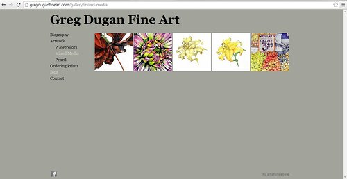 Mixed media works by Greg Dugan on his portfolio website
