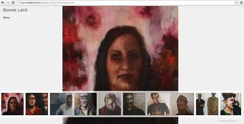 A view of the portrait painting gallery on Bonnie Laird's website
