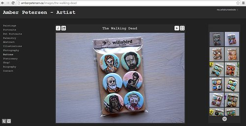 Amber Petersen's website of hand-made buttons