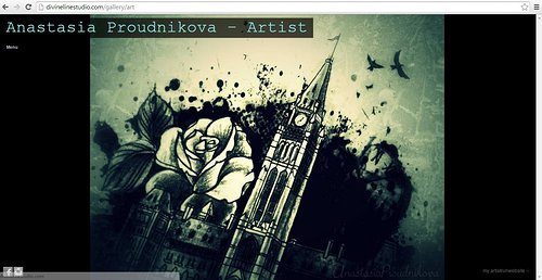 A screen capture of Anastasia Proudnikova's tattoo website