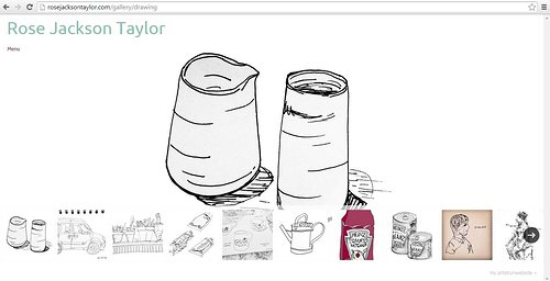 Website screen capture of drawings by Rose Jackson Taylor