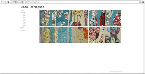 Website screen capture of Linda Henningson's paintings