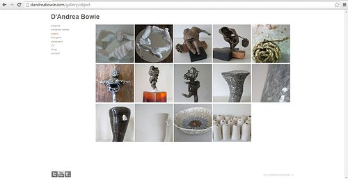 Website of D'Andrea Bowie's ceramics and installations