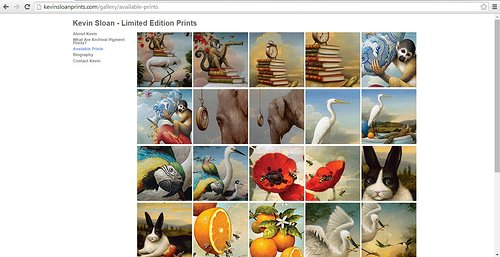 Kevin Sloan's print website