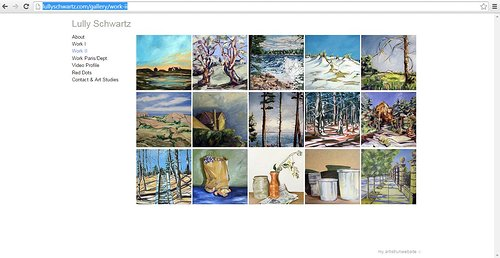 Painting images on Lully Schwartz's website