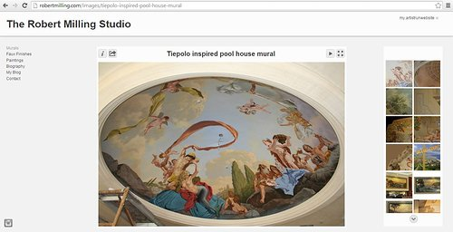 Mural paintings on the art website of Robert Milling