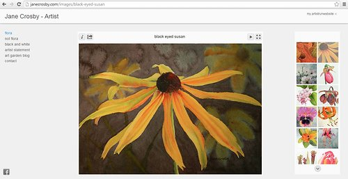 Flora gallery on the watercolour website of Jane Crosby