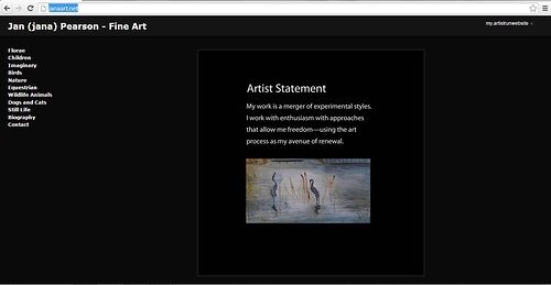 Artist statement on Jan Pearson's website