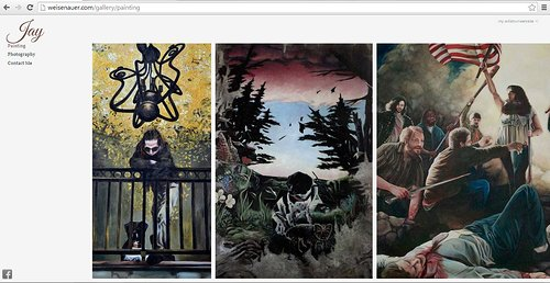 Paintings on Jordan Weisenauer's artist website