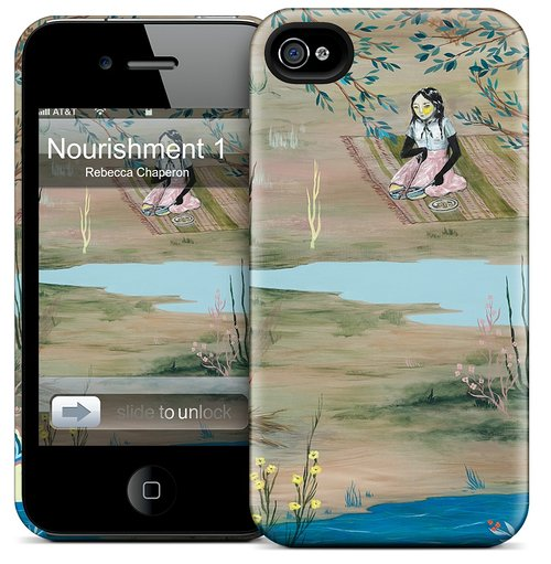 Cell phone case with art by Rebecca Chaperon