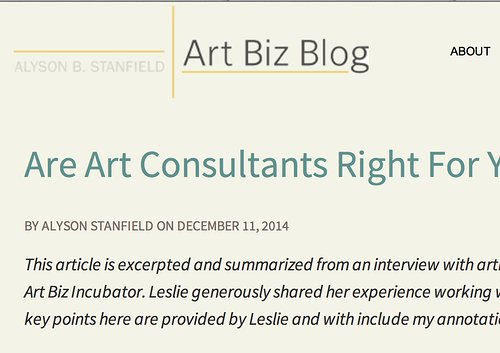 Art Biz Blog website