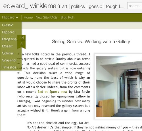 Edward Winkleman Art Advice