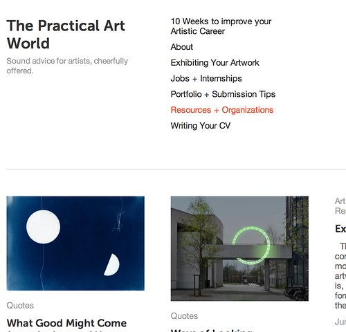 The Practical Art World Website