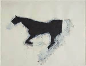 A horse painting by Susan Rothenberg