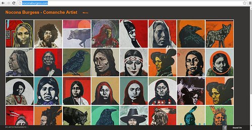 A screen capture of Nocona Burgess' image gallery on his website