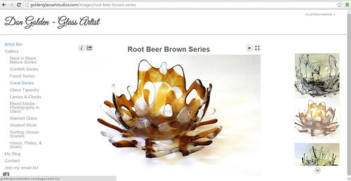 Don Golden's gallery of coral works on his glass art website