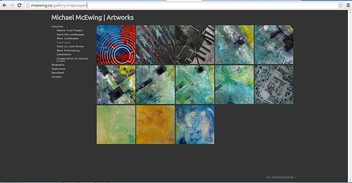 Screen capture image of Michael Mcewing's mapscapes on his website