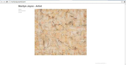 A front page screen capture of Marilyn Joyce's art website